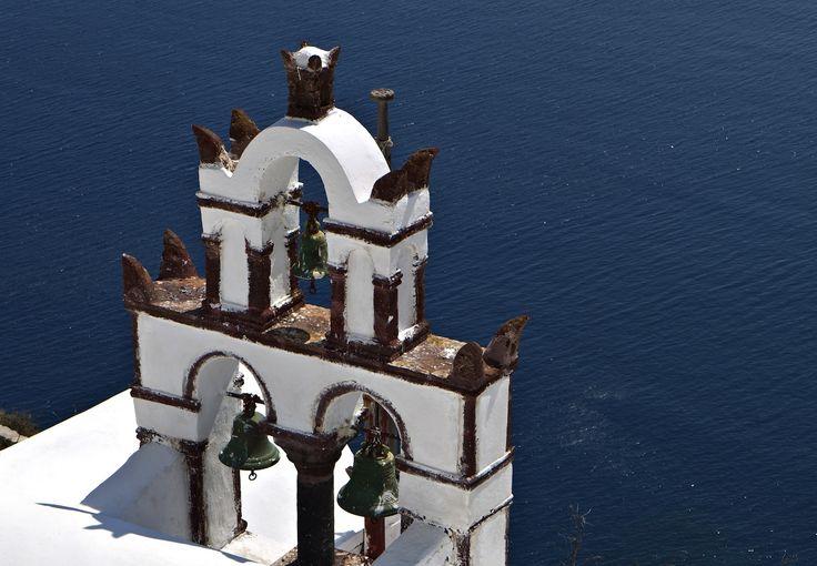 Steeple on Oia village, Santorini