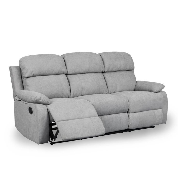 Canape Relax 3 Places En Tissu Gris Keaton In 2020 Relax Decor