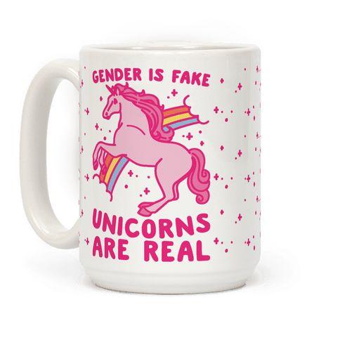 Gender Is Fake Unicorns Are Real Mug