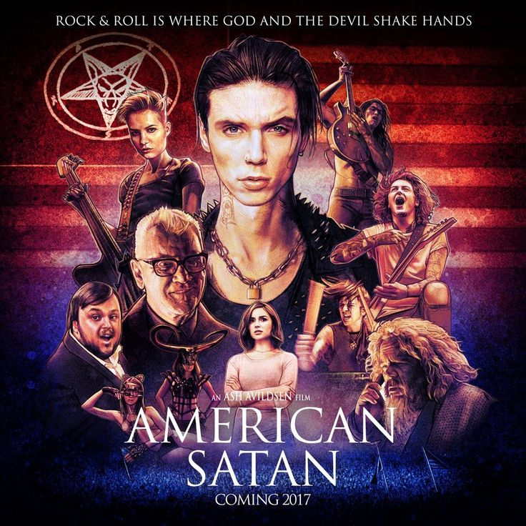 Official American Satan Movie Poster. 'Rock and Roll is Where God and the Devil Shake Hands.'