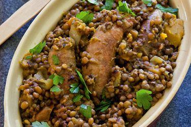 Sausage and lentil hotpot – Recipes – Bite
