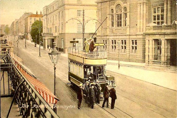 Old Postcard, Leamington Spa, Tram