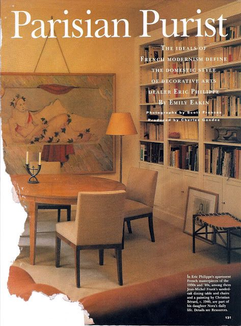 Jean Michel Frank Dining Table And Chairs A Painting By Christian