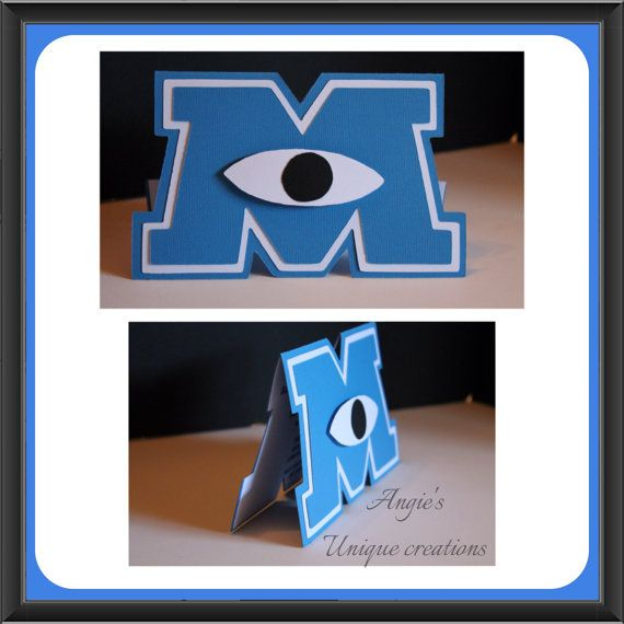 Monsters Inc. invites on Etsy, $42.00