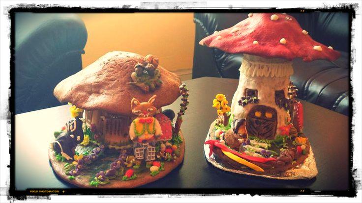 Gingerbread Mushroom Houses