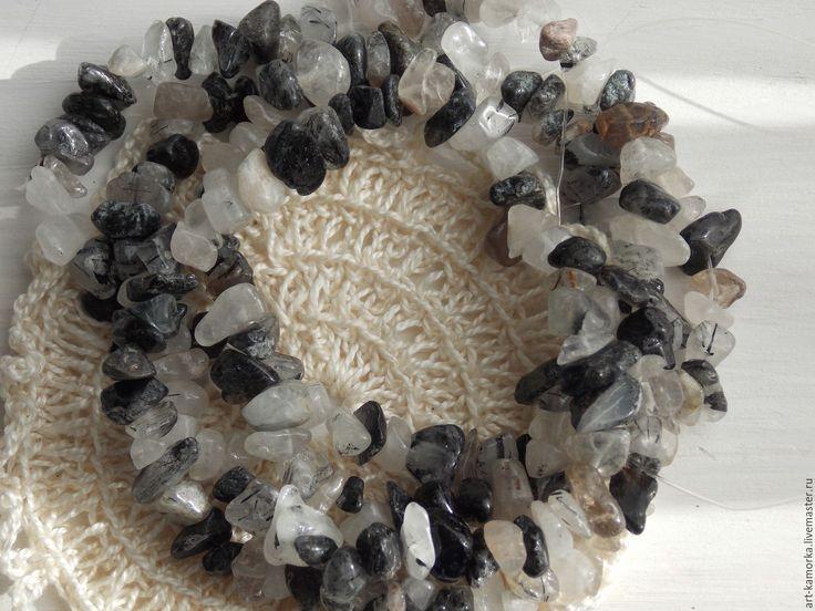 Купить Волосатик. нить 80 мелкий - серебряный, волосатик натуральный, кварц серый, серые камни