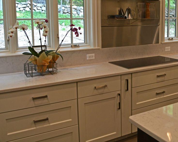 Kitchen Backsplash With White Cabinets Butcher Blocks