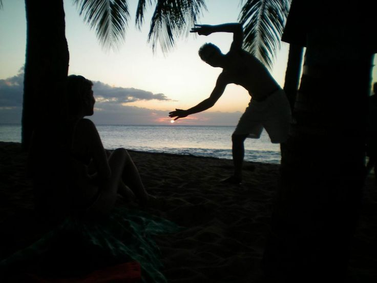 coucher de soleil a l'Anse de la Perle -  Photos de vacances de Antilles Location #Guadeloupe
