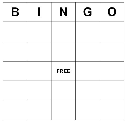 Make Your Own Bingo Card: Bingo Cards Printable Freebie