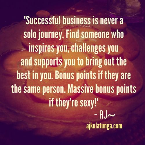 Business is never a solo journey. You have to surround yourself with the right people. To find out how, click the pic! #businessquote #businessmotivation #entrepreneurquote #success