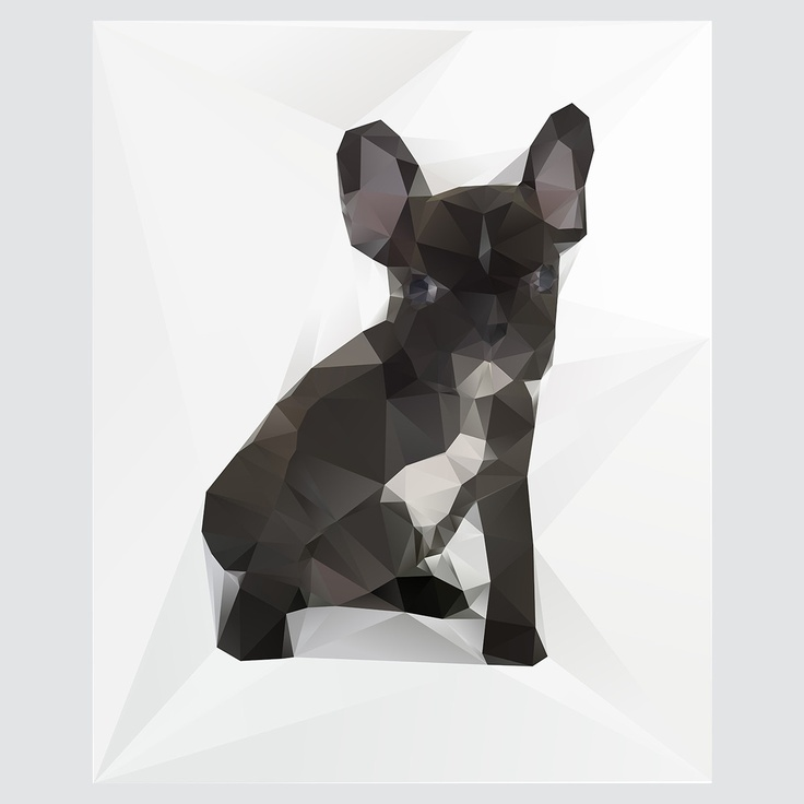 French Bulldog Print by Three Of The Possessed