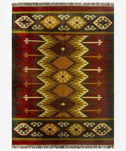 @Overstock.com - Hand-woven Kilim Burgundy Jute/ Wool Rug (5' x 8') - Hand-woven of a perfect wool and jute blend, the Kilim Burgundy Rug features a dynamic pattern in a bold color scheme, making it  http://www.overstock.com/Home-Garden/Hand-woven-Kilim-Burgundy-Jute-Wool-Rug-5-x-8/2169639/product.html?CID=214117 $99.75