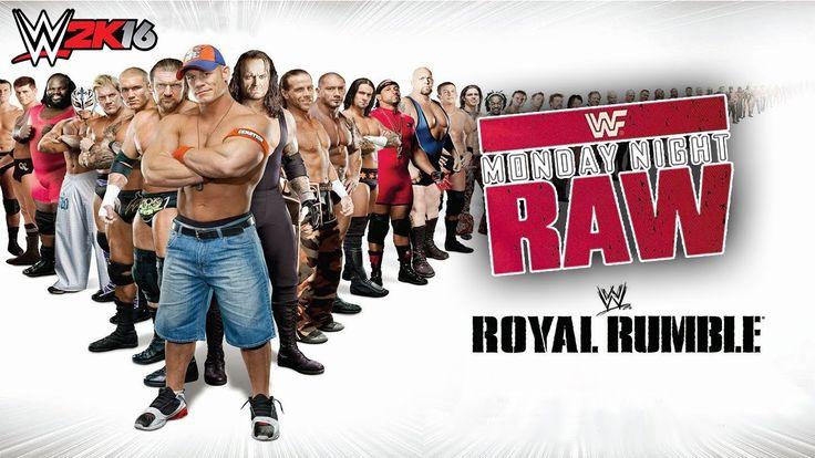 Monday Night Raw|Royal Rumble Simulation 30 Mens on the Ring|WWE 2K16