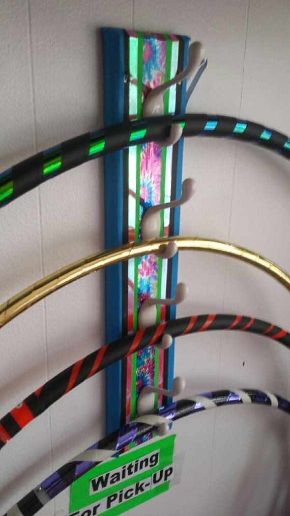 Hula Hoop Rack Hanger Great for Hanging up to 8 Hoops - LED Or Polypro Practice Hoops
