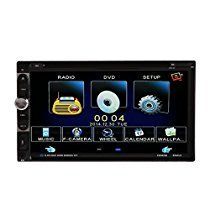 Alloet New Double 2din 7 Inch HD In Dash Touch Screen Bluetooth Car Stereo DVD CD Player
