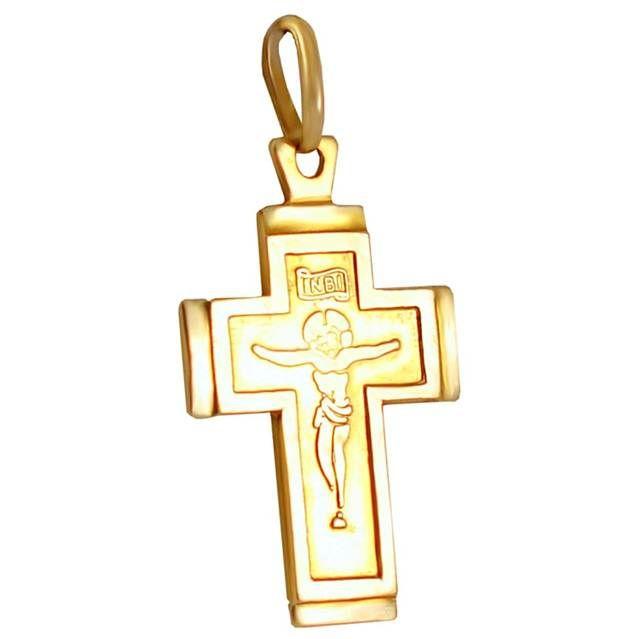 ΣΤ535Τ -Χρυσός βαπτιστικός σταυρός