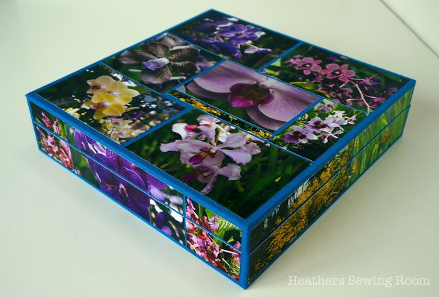 Heather's Sewing Room: Making an Orchid box for the Appliqué Blocks
