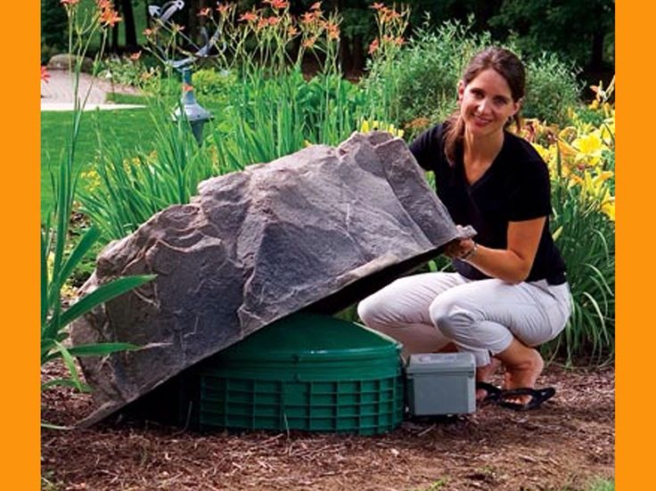 fake rock cover camouflage septic tank lids - Garden Ideas To Hide Septic Tank