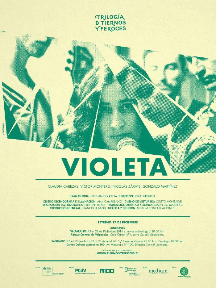 """""""VIOLETA"""" llega a las tablas como una rockera contemporánea en el Parque Cultural de Valparaíso"""
