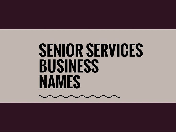 A Creative name is the most important thing of marketing. Check Creative, best Senior servicing Business names ideas for your inspiration.