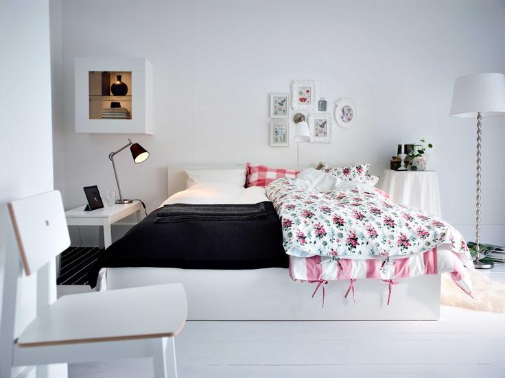 IKEA Österreich, Inspiration, Textilien, Schlafzimmer, Bettgestell - schlafzimmer mit malm bett 2
