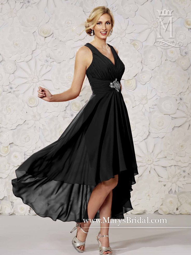This was the one that the woman from the boutique in Orland Park said she could order. It looks gorgeous on the model. In general we haven't had much luck with this neckline or the varied length dresses. We could give it a shot? Or assume that, like the others, it won't look right on.