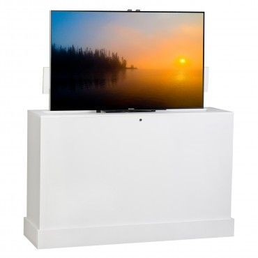 Azura 360 Degree Swivel in White Finish TV Lift Cabinet - Foot-of-the Bed Lifts