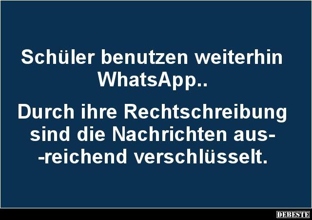 Schüler benutzen weiterhin WhatsApp..   Lustige Bilder ...