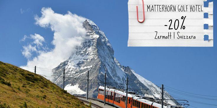 Al Matterhorn Golf Hotel di Zermatt, in Svizzera puoi prenotare una stanza approfittando del 20% di sconto