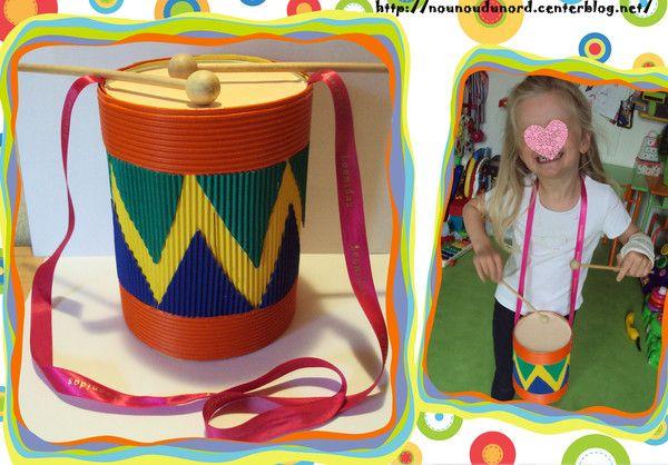 Lison 4 ans a réalisé un joli tambour