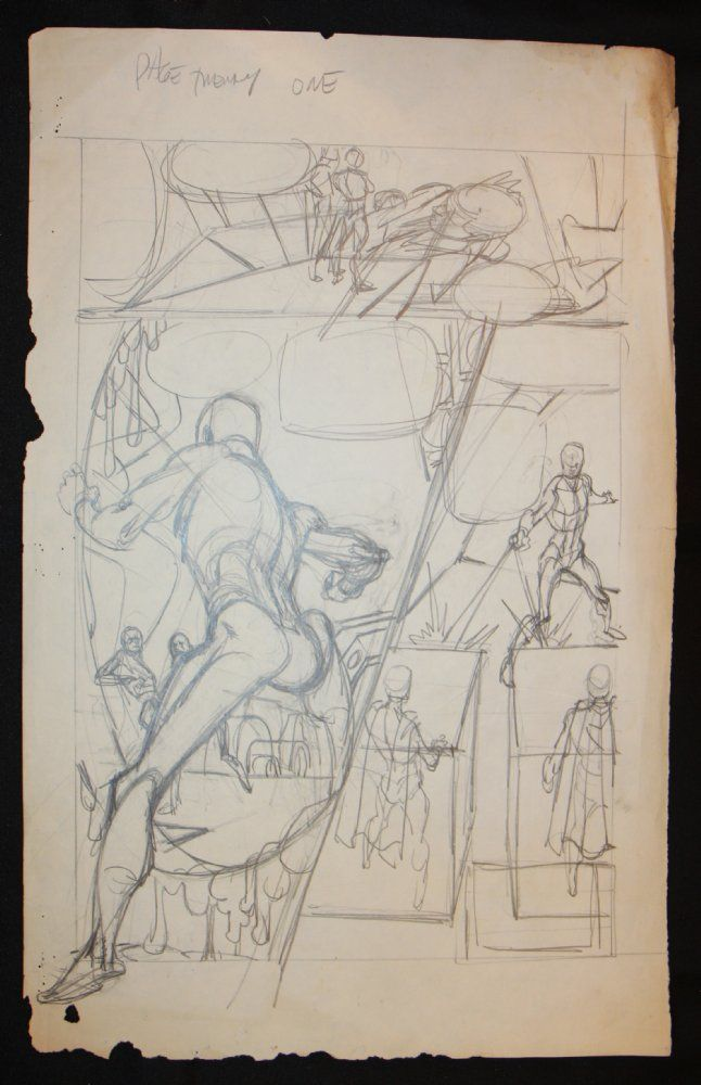 Comic Art For Sale from Anthony's Comicbook Art, Green Lantern Prelim #? p.21 - Ring Action by Comic Artist(s) Gil Kane