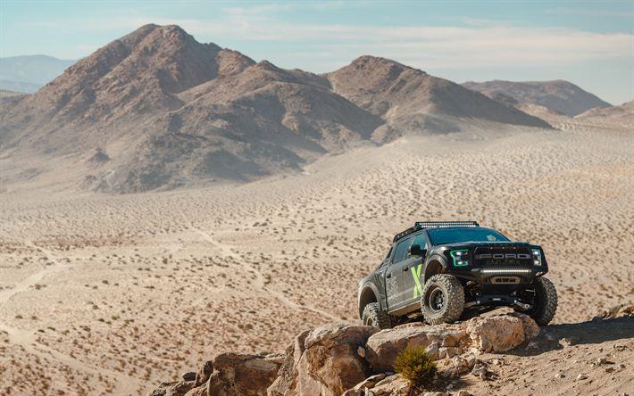 Download wallpapers 4k, Ford Ranger Raptor, desert, 2019 Cars, offroad, tuning, new Ford Ranger, Ford