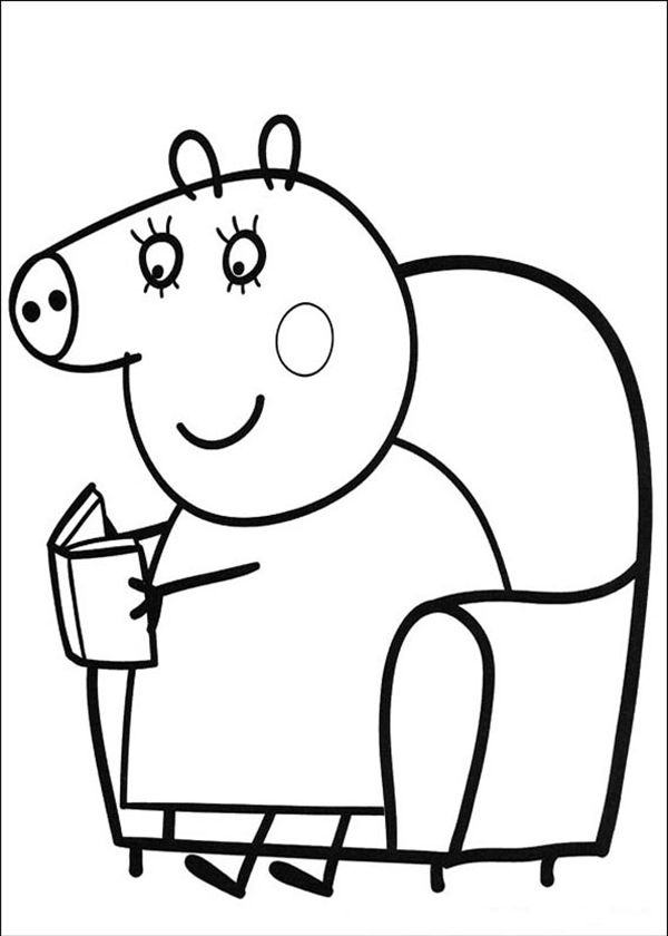 24 best peppa pig images on pinterest | pigs, pig birthday and pig ... - Peppa Pig Coloring Pages Print