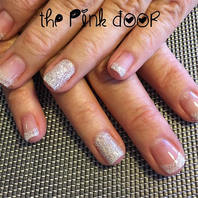 Beautiful glitter French Manicure by @d_alicia13 @pinkdoor25 #glitternails #frenchmanicure #pinkdoorboutique #pinkdoorboutiquesandnailsalon #brightoncolorado #gelpolish