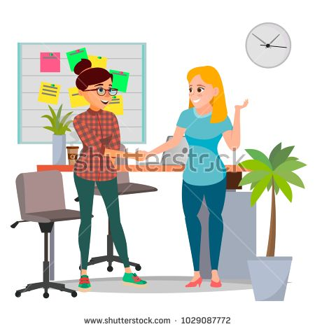 Business Partnership Concept Vector. Two Business Woman. Signing Contract Agreement. Office Meeting. Isolated Flat Cartoon Illustration
