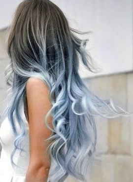 I may do my natural color with light blue ends like this....very tempted