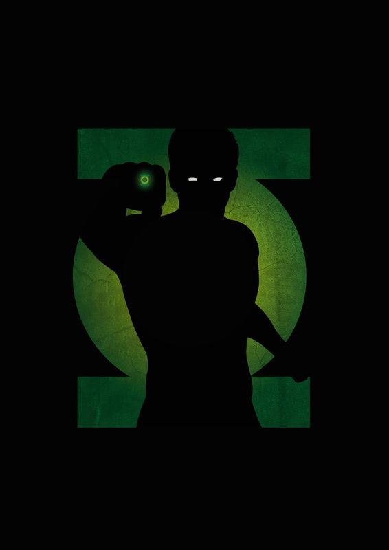 Green Lantern Shadow Art from Lily's Factory (http://lilysfactory.fr/), a French graphic artist