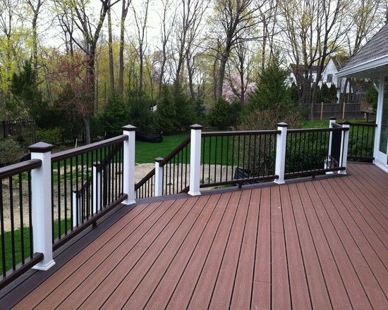 Two Tone Deck Ideas Traditional Deck Design For