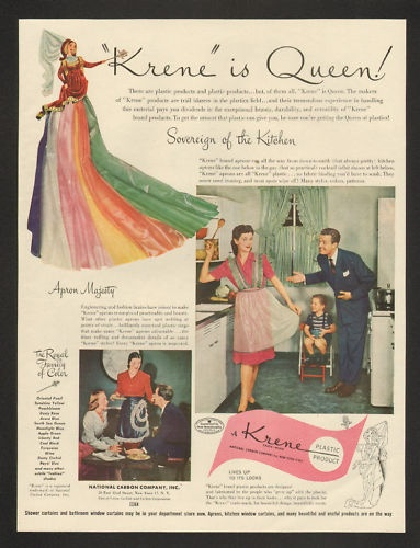 1946 BIB Apron Kreen Plastic Product Vintage Print Ad- ebay