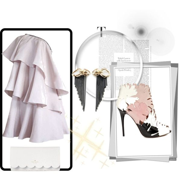 Bold bride on your civil matrimony by maia-ratiu on Polyvore featuring Lanvin, Alexander McQueen, Kate Spade, Thor & Wistle, bride, wedding and maiaratiu