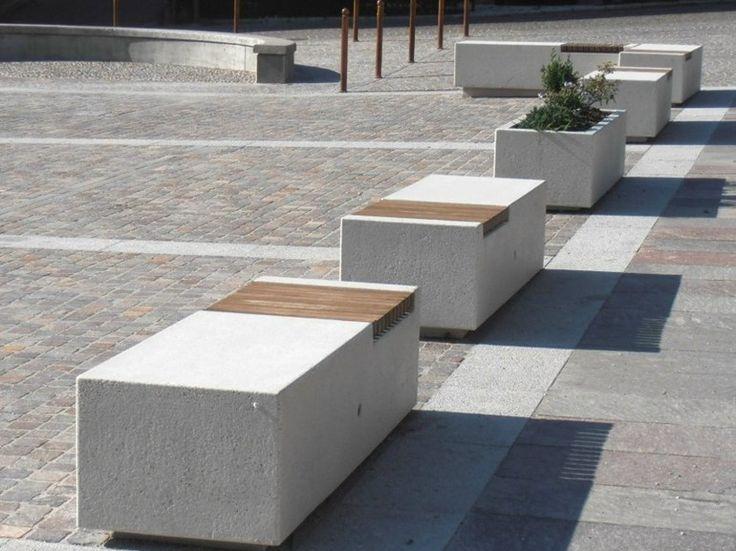 #Bellitalia very elegant street furniture solution. #concrete and #marble #urban #design street furniture - arredo urbano - mobiliario urbano - mobilier urbain