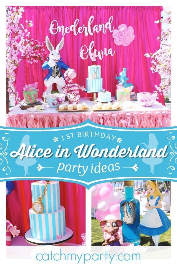 Alice In Wonderland Birthday Olivia In Onederland 1st