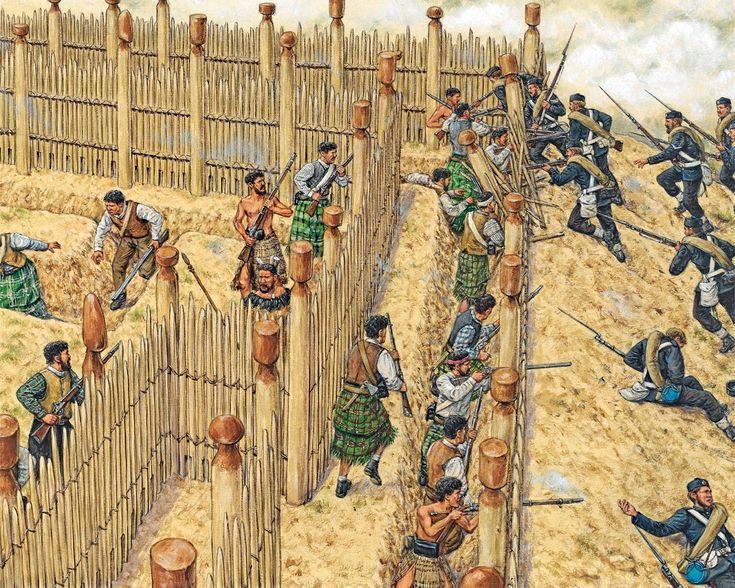 Maori Fortifications, New Zealand Land War