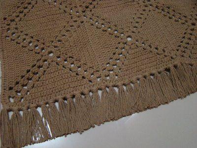 Crochê Compartilhado: Tapete de Quadrados de Crochê em Barbante