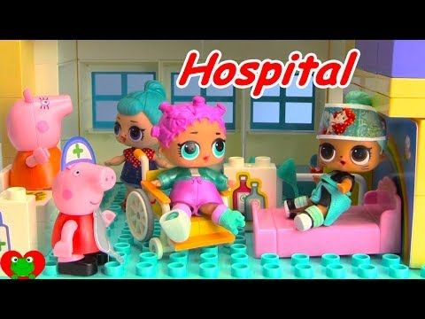 LOL Surprise Doll Falls Off Spirit Riding Free Peppa Pig Hospital - YouTube