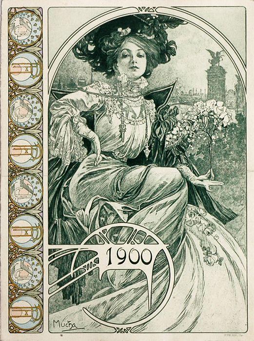 Bosnian pavilion booklet cover for the L'Exposition Universelle de Paris, Alphonse Mucha, 1900