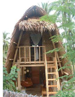 A traditional beach hut