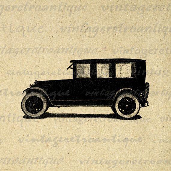 Antique Car Printable Image Download Old by VintageRetroAntique