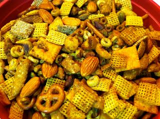 you should make this: Texas Trash Snack Mix