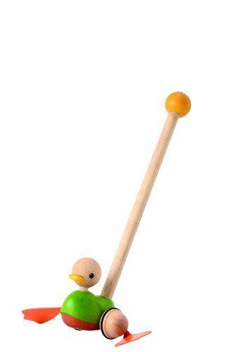 Plan Toys Push Along Duck PlanToys http://www.amazon.com/dp/B00BJKW77Y/ref=cm_sw_r_pi_dp_Wl.wvb016QC9C